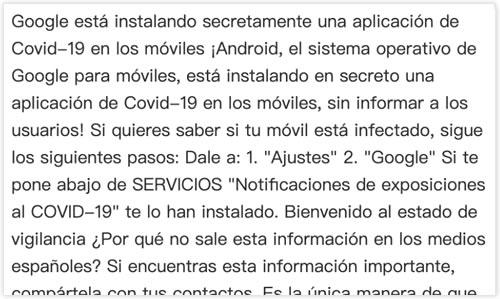 Bulo notificaciones de exposición Covid-19