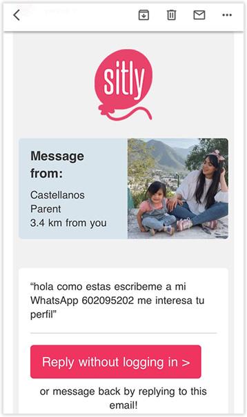 Contacto a través de Sitly