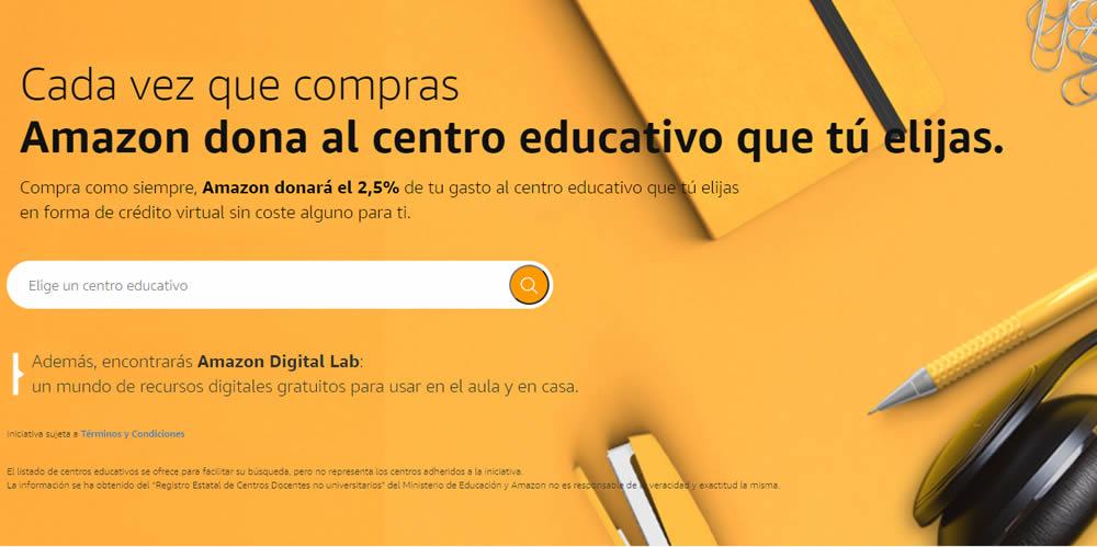 Amazon dona a centros educativos