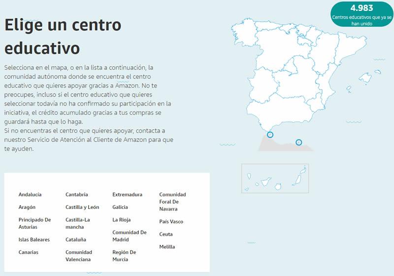 Elige centro educativo de España