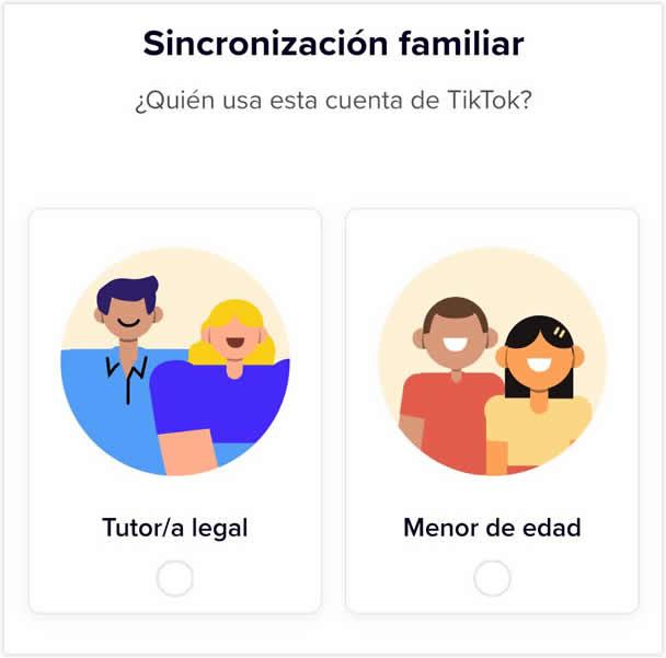 Sincronización familiar TikTok
