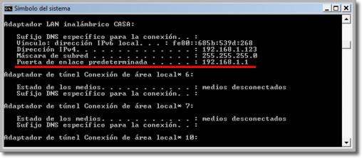 Ver IP del ordenador