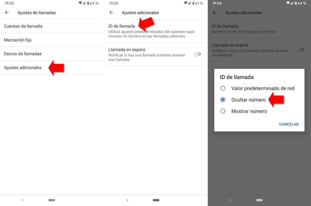 Configurar Android número privado