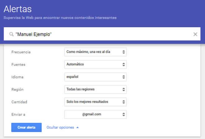 Egosurfing con Google Alerts