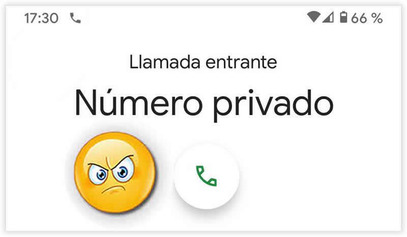 Llamar con número oculto